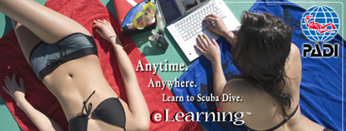 Anytime, Anywhere, learn to scuba dive  with E-Learning